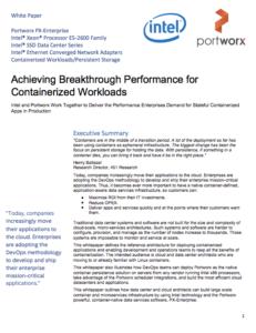 Portworx-Intel whitepaper