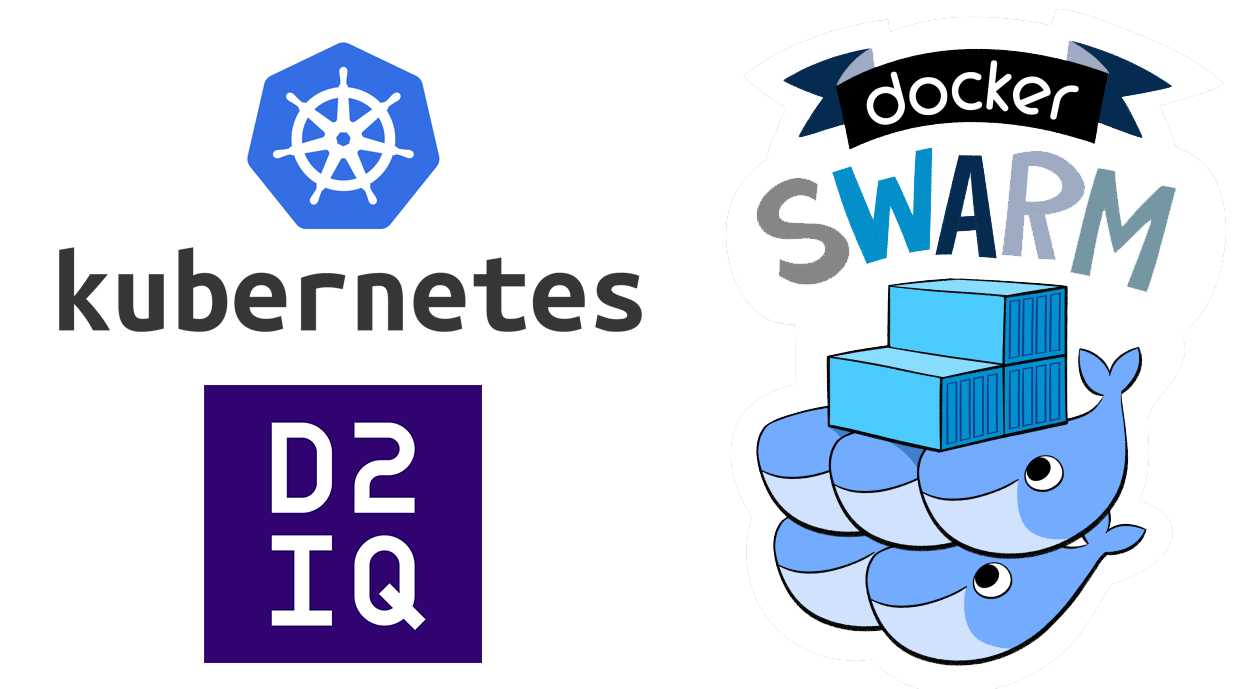 Manage database containers and other stateful containers with Kubernetes, D2IQ DCOS and Docker Swarm